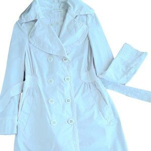 White Belted Italian Trench Coat